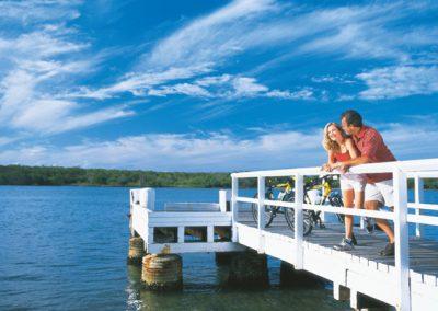 Pier on Gympie Terrace, Noosa River